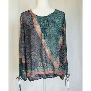 New W/Tag Anthropologie Mystree Multicolor Blouse